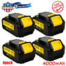 4X For Dewalt 20V Volt Max XR DCB204 4.0Ah Lithium Ion Batteries Li-ion DCB200-2