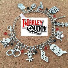 HARLEY QUINN X SUICIDE SQUAD CHARM PENDANT DELUXE BRACELET *NEW* RARE SALE!
