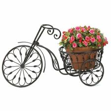 Wrought Iron Tricycle Plant Stand Outdoor Deck Patio Plant Decor