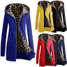 Fashion Women Warm Hooded Leopard Print Jacket Long Coat Overcoat Outwear Worthy