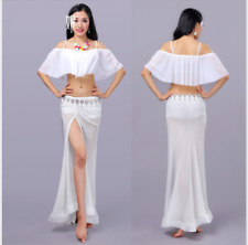 Blouse+Long Skirt with safty shorts 3pcs set Performance Belly Dance Costumes