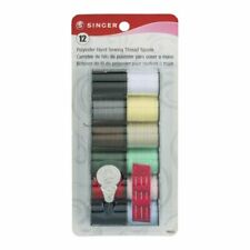 Singer Hand Sewing Hand Sewing Thread 60642, 12 Assorted Colors + Needles
