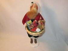 Byers Choice Retired 2003 Santa with Gift Basket signed