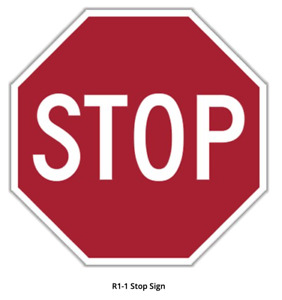 """STOP SIGN 18"""" x 18"""" Aluminum, Engineer Grade Reflective Double sided R1-1 LEGAL"""