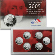 2009-S Territorial Silver Quarter 6 Coin Proof Set OGP W/COA