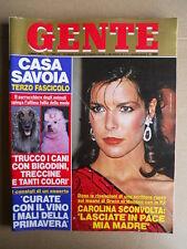 GENTE n°13 1985 Carolina di Monaco Tortora Celeste Lino Banfi Toffolo  [D38]