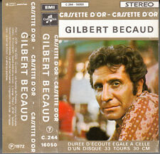 "K 7 AUDIO (TAPE)  GILBERT BECAUD ""LA CASSETTE D'OR"""