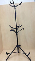 Haze GS030 Metal-Rubber Structure, Black,Tripod-Stand 6 Guitar Stand- Foldable