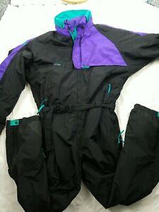 Columbia One Piece Ski Bib Retro Snowsuit 90s Black Purple Mens Tall XXXL