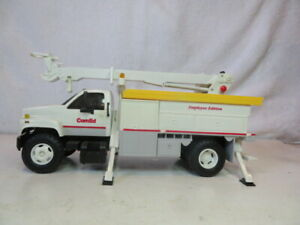 """DG Productions Toy Bank Truck GMC Comed Employee Edition Crane 14"""" Long"""