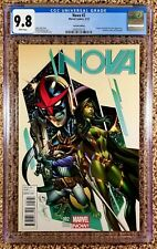 Nova #2 J Scott Campbell 1:50 Variant CGC 9.8 Gamora Rocket Watcher Appearence