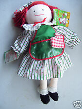 """Madeline 19"""" Cloth Doll Holiday Sweets 'N Treats Christmas """"EDEN DOLL"""" w/Recipe"""
