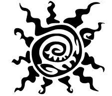 2 Pegatinas de vinilo,Aufkleber,sticker,skate,snow,Tribal,Sun,Sol,521