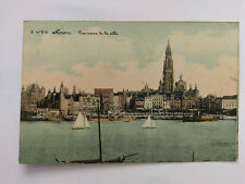 Antwerp (Anvers) Belgium Vintage colour Postcard 1912 Panoramic view