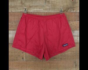 RARE Vintage 80s PATAGONIA Swim Trunks Red Shorts Drawstring 100% Nylon Medium