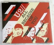 U2 - ALL BECAUSE OF YOU - CD Single Sealed