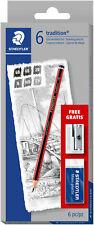 Staedtler Tradition Pencil Set With Eraser Amp Sharpener Pack Of 6