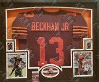 ODELL BECKHAM JR AUTO SIGNED CUSTOM CLEVELAND BROWNS COLOR RUSH JERSEY JSA COA