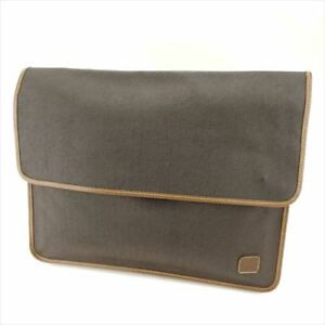 Dunhill Clutch bag Grey Woman unisex Authentic Used T6340