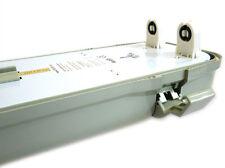 A2ZWORLD PLAFONIERA STAGNA DOPPIO TUBO LED T8 120CM X 2 NEON A LED IMPERMEABILE