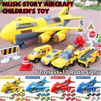 Christmas Gifts Music Story Simulation Children's Toy Aircraft With Boy Car