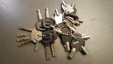 Lot of 24 Arcade Vending Tubular Barrel Keys and Misc Security Keys ABA EZ other