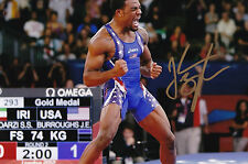 Jordan Burroughs Signed 4x6 Inch Photo Gold Medal London Rio Olympics  Wrestling a4dbf9e2ad76
