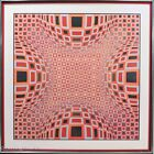 """Rare Victor Vasarely Hand Signed Artist Proof """"Four Globes in Red"""", FINE & RARE"""