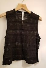 Lululemon Sweat Your Heart Out Tank NWT SZ 10 BLK Mesh