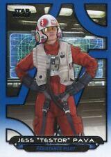Star Wars Galactic Files Reborn Blue Parallel Base Card TFA-25 Jess Pava