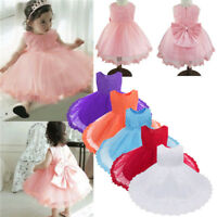 Princess Girl Baby Party Dress Christening Birthday Bridesmaid Lace Tulle Dress