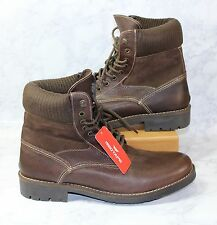 Mens Red Tape Boots Leather Uppers Brown Plain Toe Knitted Cuff size10.5 NE