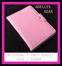 KIDS OR CHILDRENS UNIVERSAL 7 INCH TABLET COVER CASE -PALE  PINK DESIGN