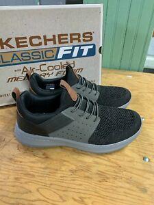 New Skechers Men's 2021 Delson 3.0 Classic Fit Sneaker Black Athletic Pick Size
