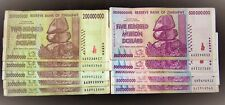 10 Zimbabwe banknotes-5 x 200 Million/5 x 500 Million dollars-currency / 2008