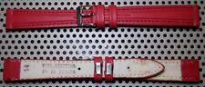 Correa de Piel Legitima para Reloj - 14mm - Hebilla De Metal - Color Rojo -