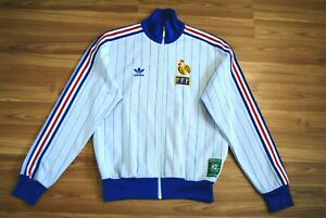 ADIDAS FRANCE TRACK TOP JACKET CARRÉ MAGIQUE 1982 VINTAGE SIZE MENS MEDIUM RARE