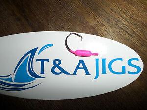 Tog Jigs FOOTBALL Cracked Blacklime Blackfish Tautog 2X STRONG HOOKS 1oz 2oz 3oz