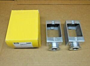 "BOX OF 2 NIB HUBBELL SA6685 ALUMINUM PEDESTAL FLOOR BOX 1-GANG 3/4"" HUB"