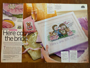 Country Companions Wedding Theme Cross Stitch Chart **from a magazine**