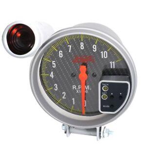 "5"" Inch 11K Rpm Tacho Tachometer Gauge Meter Carbon Fiber Display+ Shift Light"