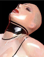 100% Latex Gummi Rubber Doll Mask Hood Catsuit Bodysuit Skin Color Party Costume