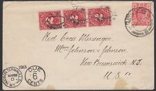 TRANSVAAL, 1913. Due Cover 282, Claremont - New Jersey