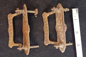 Pair of Antique Brass Swivel Drawer Pulls