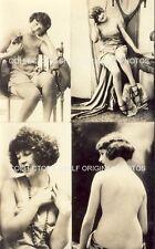 RISQUE PHOTO SHEET 4 IMAGES SINGLE SHEET c1920s Original Photos CORONA NUDE