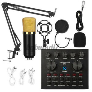BM 800 Condenser Microphone Kit Studio Suspension Boom Scissor Arm Stand Fliter