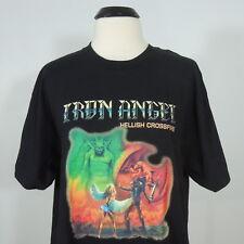 IRON ANGEL Hellish Crossfire T-Shirt Black Men's size L (NEW)