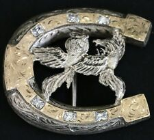 belt buckle silver 925 and gold