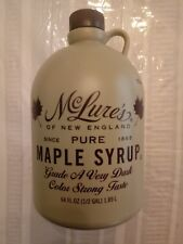 McLures Organic Pure Maple syrup 64oz Grade A !