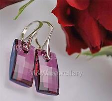 Pendientes de plata 925 cristales de Swarovski ® Urban Lila Shadow 20MM